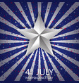 4th july happy independence day america with vector image vector image