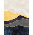 abstract mountain landscape natural landscape vector image vector image