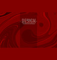 abstract red marbled surface swirls texture vector image vector image