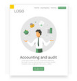 accounting and audit web design concept modern vector image