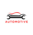 automotive auto part logo or auto repair logo vector image