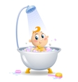 Baby in the shower vector image