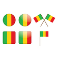 badges with flag of Mali vector image vector image