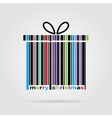Barcode Happy New Year and Merry Christmas vector image