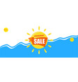 bright blue banner summer sale vacation and vector image vector image