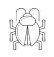 bug fixing line icon vector image