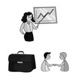 business conference and negotiations monochrome vector image