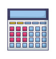 calculator financial economy vector image vector image