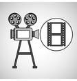 camera film vintage with movie film strip vector image vector image