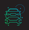 car wrench repairing icon design vector image