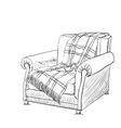 Chair sketch style vector image vector image