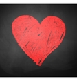 Chalked drawing of heart vector image vector image