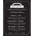 Christmas food menu on chalk Board Christmas vector image