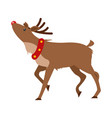christmas realistic deer isolated on white vector image vector image