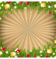 Christmas Vintage Border With Old Sunburst vector image