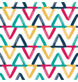 colorful overlapping triangles seamless vector image vector image