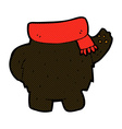 comic cartoon black bear body mix and match or add vector image vector image