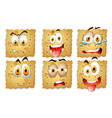 Crackers with facial expressions vector image vector image
