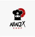 creative ninja chef hat logo icon template vector image vector image