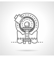 CT scanner line icon vector image vector image