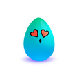 easter egg cartoon blue symbol holiday isolated vector image
