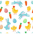 easter seamless pattern background with cute vector image