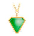 emerald jewelry mockup realistic style vector image vector image