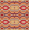ethnic tribal seamless pattern in autumn colors vector image vector image
