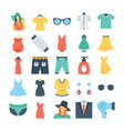 fashion and clothes colored icons 6 vector image