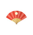 flat cartoon folding japanese fan vector image