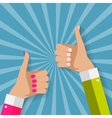 Flat Design Thumbs Up Background vector image vector image