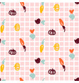 fun vegetable seamless pattern hand drawn vector image