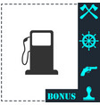 gas station icon flat vector image vector image