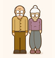 grandfather and grandmother standing together vector image