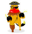 halloween dog character in costume of pirate cute vector image