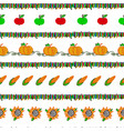 harvesting seamless pattern vector image vector image