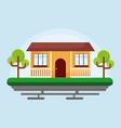 house with trees icon vector image