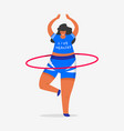 hula hoop for fitness girl plus size health vector image vector image