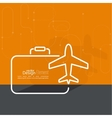 Icon airplane and suitcase vector image vector image