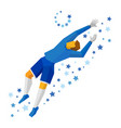 jumping football goalkeeper catches the ball vector image vector image