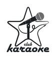 karaoke club logo vector image