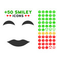 lady smile icon with bonus smiley clipart vector image vector image