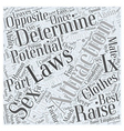 Laws of Attraction Word Cloud Concept vector image vector image