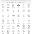 Medical ultra modern outline line icons for vector image vector image