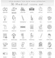 medical ultra modern outline line icons vector image