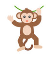 monkey with wine vector image vector image