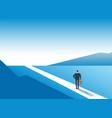new way concept beginning journey adventures and vector image