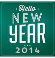 New Year Typographic Background vector image vector image