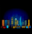 night city scene vector image