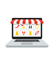 online shop laptop vector image vector image